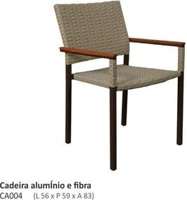 Cadeira Venture com Braços em Fibra Sintética L56cm x P59cm x A83cm
