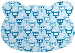 Tapete PET Mdecore Urso Cachorro Azul 54x39cm