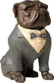 Estatueta Cachorro Paletó Azul - 31cm