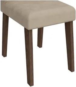 Mesa Para Sala de Jantar Flávia com 6 Cadeiras Milena Marrocos/Bege - Cimol Móveis