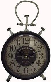 Relógio de Mesa de Ferro Vintage Pequeno