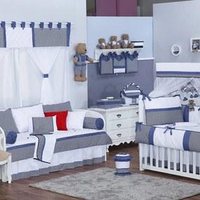 Quarto de Bebê Chevron Noblesse Marinho 28 Peças