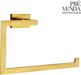 Porta Toalha de Rosto (Mondrian Dourado)
