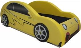 Cama Cama Carro Nb Trovão Amarelo