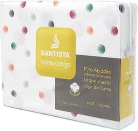 Jogo de Cama 4pçs Casal Santista Home Design Petit Cinza