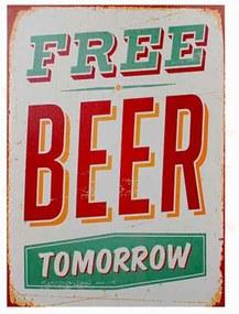 Quadro Tela Free Beer Tomorrow