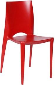 Cadeira Nápoles sem Braços em Polipropileno Vermelho