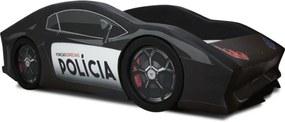 Cama Cama Carro Rw Polícia Preto