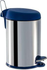 Lixeira Inox C/Pedal 5L Brinox Azul