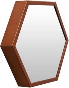 Espelho Decorativo Cobre Hexagonal Jules