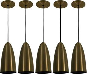 Pendente Taça Riva Bronze Preto Kit com 5 CASAH