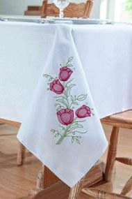 Toalha Guga Tapetes de Mesa Primavera Branco/Vermelho