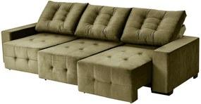 Sofá Retrátil E Reclinável Puremax 2,80 Mts Tecido Suede Castor - Moveis Marfim