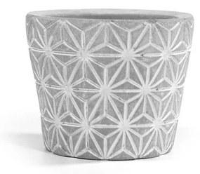 Mini vaso de cimento estrela