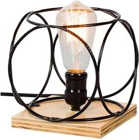 Luminaria Palas Estrutura em Ferro Redondo cor Preto 16cm (LARG) - 54086 Sun House
