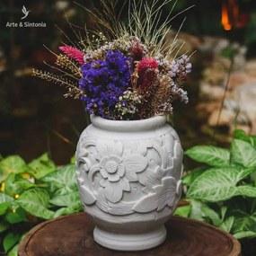 Vaso Floral em Marmorite 20cm