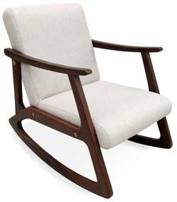 Poltrona para Amamentação Vintage de Balanço Madeira Maciça Design Retrô