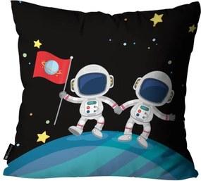 Kit com 3 Almofadas Infantis Astronauta Preta55x55cm