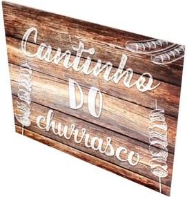 Placa Decorativa Prolab MDF Churrasco Tabaco