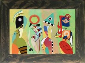 Quadro Decorativo A4 Las Musas - Kandinsky Cosi Dimora