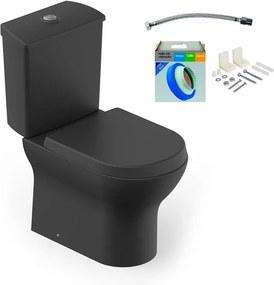 Kit Bacia com Caixa Acoplada e Assento Nexo Onix + Conjunto de Fixação Flexível e Anel de Vedação - Roca - Roca