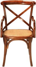 Cadeira Paris Com Braço Assento Rattan