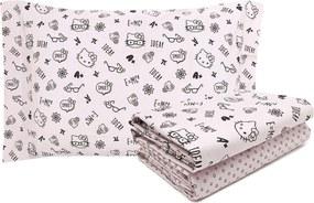 Jogo de Cama 3pçs Solteiro Artex Total Mix Jr Hello Kitty Percal 150 Fios Rosa