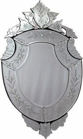 Espelho Veneziano Com Corte Bisotê Pequeno Cristalino Namou