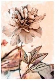 Quadro Decorativo Flores Cinza e Rosa 3 - KF 49260 40x60 (Moldura 520)