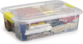 Caixa Organizadora Plástico Com Trava MiniBox Capacidade 27L