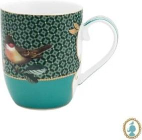 Caneca Pequena Bird Verde Winter Wonderland Pip Studio