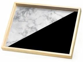 Bandeja Marble black