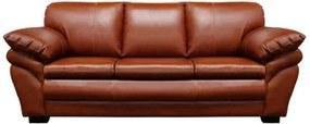 Sofá de Couro Bradley 3 Lugares - Conhaque com Brilho - Mempra