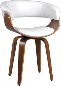 Cadeira Decorativa Sala e Escritório Legacy Madeira Branca - Gran Belo