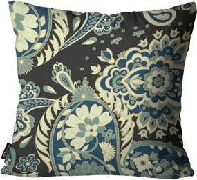 Almofada Premium Peluciada Mdecore Floral Preto45x45cm