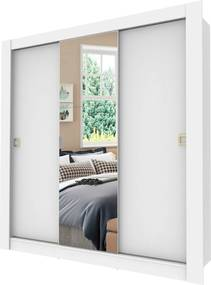 Guarda Roupa Master 3 portas com porta Madesa Branco