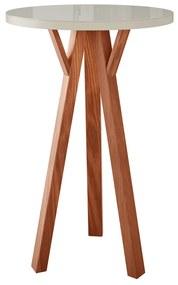 Bistro Alto Lucca Redondo Tampo de Vidro - Wood Prime LL 33016