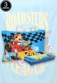 Jogo de Cama 3pçs Solteiro Lepper Mickey Azul