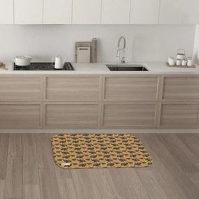 Tapete de Cozinha Mdecore Galinha d'Angola Marrom 40x60cm