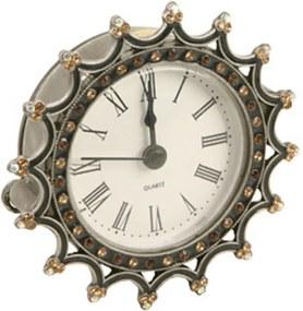 Relógio de Mesa Decorativo  de Metal com Strass III