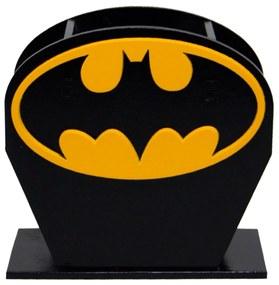 Porta Lápis Caneta E Acessórios Geek Batman Logo Amarelo 10x10cm