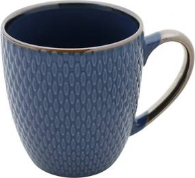 Caneca De Porcelana Drops Azul 400ml 27618 Bon Gourmet