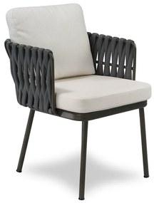 Cadeira Nath Área Externa Trama Tricô Náutico Estrutura Alumínio Eco Friendly Design Scaburi