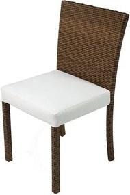 Cadeira Dixon Revestida em Fibra Sintentica e Assento cor Branco com Base Aluminio - 44539 Sun House