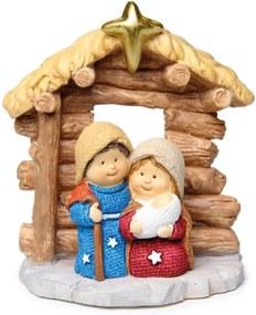 Sagrada Família DecoraçÁo Natal Em Resina 7 Cm Com 1 Unidade