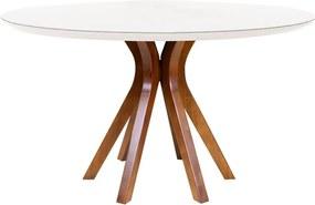 Mesa de Jantar Redonda Vicent Amêndoa 130 cm - Wood Prime VM 38113