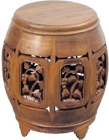Garden Seat  Evora Pequeno Marrom - Wood Prime AM 20032