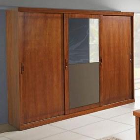 Roupeiro Style Flex 3 Portas De Correr Com Espelho Domus Móveis