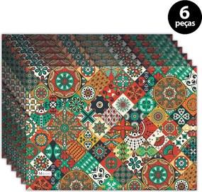 Jogo Americano Mdecore Abstrato 40x28cm Colorido6pçs