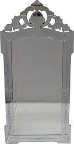 Espelho Clássico Veneziano com Moldura Prateada - 190x90cm